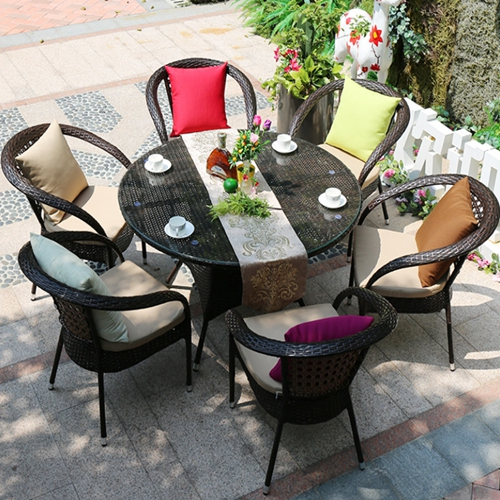 6 Chair And Table Patio Set Off 50, Round Table Patio Furniture