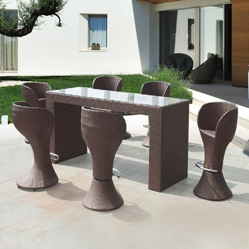 Phenomenal Patio Bar Rotating Chair Long Counter Table Furniture E Home Interior And Landscaping Ologienasavecom