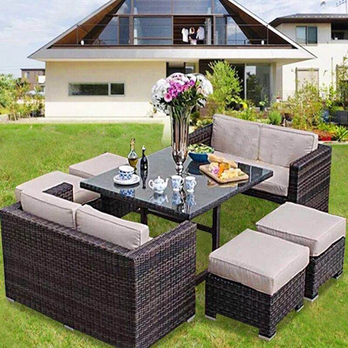 Brilliant Patio Furniture Wicker Sectional Sofa Chair Stool Table E Onthecornerstone Fun Painted Chair Ideas Images Onthecornerstoneorg