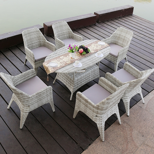 Furniture Rattan Chair Table Dining Set